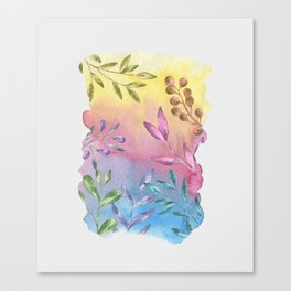 Shades of Leaves Canvas Print
