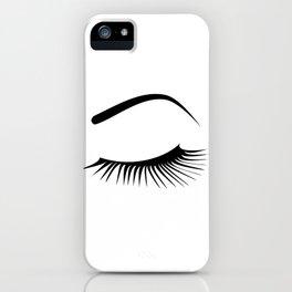 Closed Eyelashes Left Eye iPhone Case