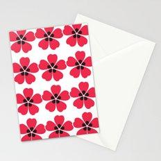 Japanese Sakura Floral Pattern - White Stationery Cards