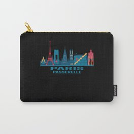 Paris Passerelle France Skyline Carry-All Pouch