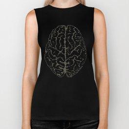 Brain Print Biker Tank