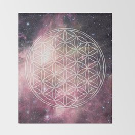 Sacred Geometry Universe 3 Throw Blanket