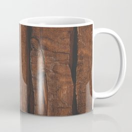 Rustic brown old wood Coffee Mug
