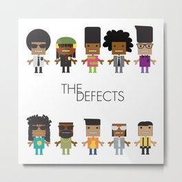 The Defects Metal Print