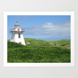 A Boy and His Lighthouse Art Print