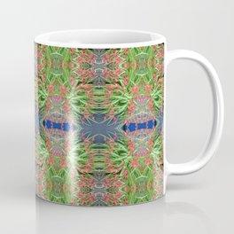 Red Lilly Flower Photo Multi Fractal Frieze Coffee Mug