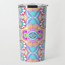 Light Blue Symmetry Travel Mug