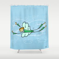 angel Shower Curtains featuring Angel by Giuseppe Lentini