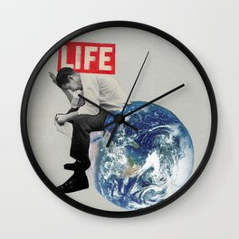 The weight of life Wall Clock