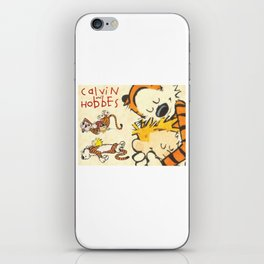 Calvin and Hobbes forever iPhone Skin