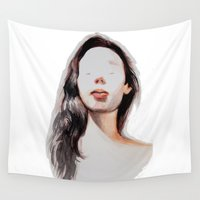 selfie Wall Tapestries featuring Selfie by Cristina Tillotson