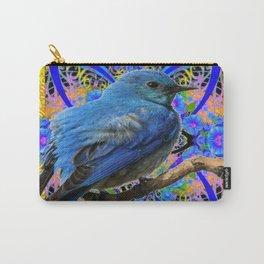 DECORATIVE BLUE BIRD IN GOLDEN ART Carry-All Pouch