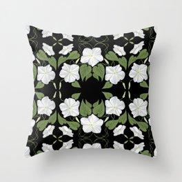 Moonflowers Throw Pillow