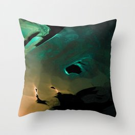 A mysterious glow Throw Pillow