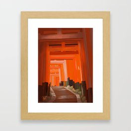 Vermillion Framed Art Print