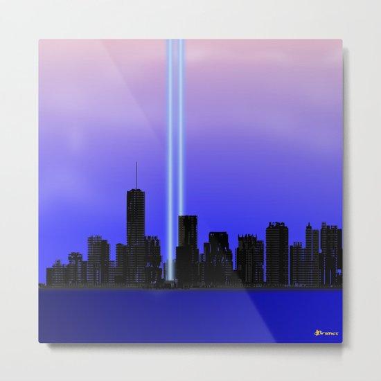 New York New York - Remembering Metal Print