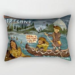 Postcard from Lewis + Clark Rectangular Pillow