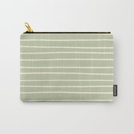 Dover White 33-6 Hand Drawn Horizontal Lines on Melon Green 18-28 Carry-All Pouch