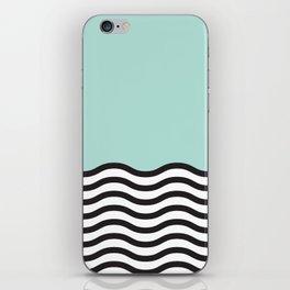 Waves of Green iPhone Skin