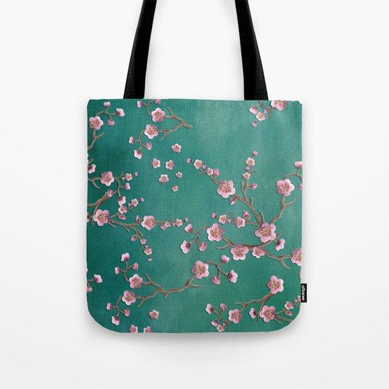 SAKURA LOVE - GREEN Tote Bag