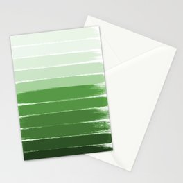 Yote - ombre green brushstrokes abstract minimal canvas painting art decor Stationery Cards