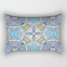 blue pattern Rectangular Pillow