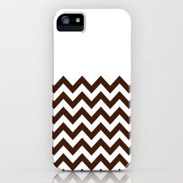 Coffee Chevron iPhone Case