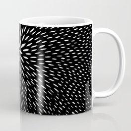 black and white abstract swirl drops pattern Coffee Mug