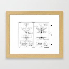 Grumman A2F-1 / A-6 Intruder Schematic Framed Art Print