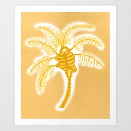 Skeleton Heart Palm Tree Art Print