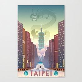 Taipei Travel Poster Canvas Print