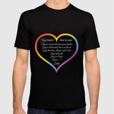 Love Wins MEDIUM Mens Fitted Tee Black