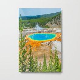 Yellowstone Grand Prismatic Spring Print Metal Print