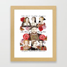 Henry VIII and his six wives, Tudor, King Framed Art Print