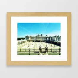 madrid royal palace Framed Art Print