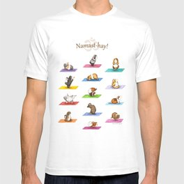 The Yoguineas - Yoga Guinea Pigs - Namast-hay! T-shirt
