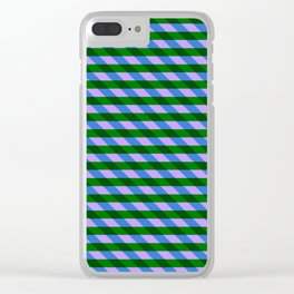 Color_Stripe_2019_002 Clear iPhone Case