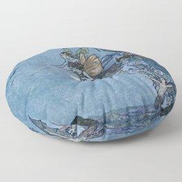 """Elves"" Fairy Tale Art by Edmund Dulac Floor Pillow"
