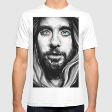 Jared Leto White MEDIUM Mens Fitted Tee