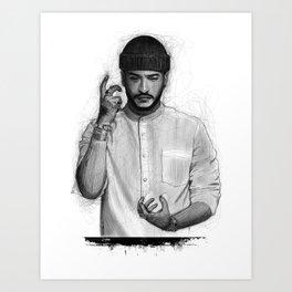 Slimane The Voice Art Print