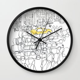 NYC yellow cab Wall Clock