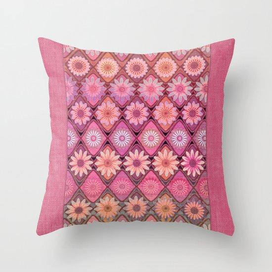 Daisy Pinks Throw Pillow