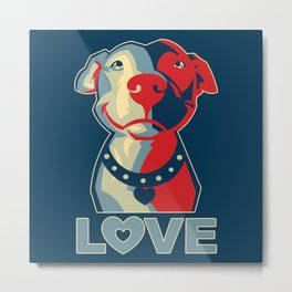 Pitbull - Love Metal Print