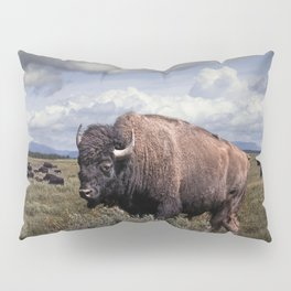 American Buffalo or Bison in the Grand Teton National Park Pillow Sham