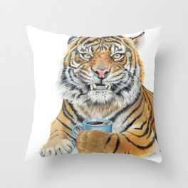 Too Early Tiger Throw Pillow