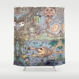 Mind Friend of Imaginations 2 Shower Curtain