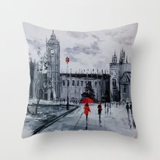 Walk in London Throw Pillow