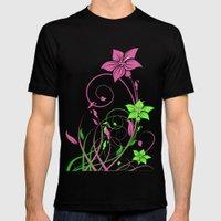 Spring's flowers Black MEDIUM Mens Fitted Tee