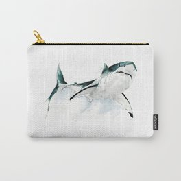 Great White Shark Watercolour Carry-All Pouch