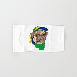 Pug Brazil Hand & Bath Towel